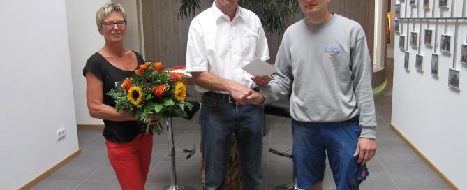 (von links nach rechts) Theresa Hofstätter, Josef Strobl, Andreas Held